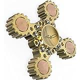 Lahtak Premium Hand Spinner Metal EDC Toy  Detachable Unique Original Brass Cool Fidget Spinner Transformer
