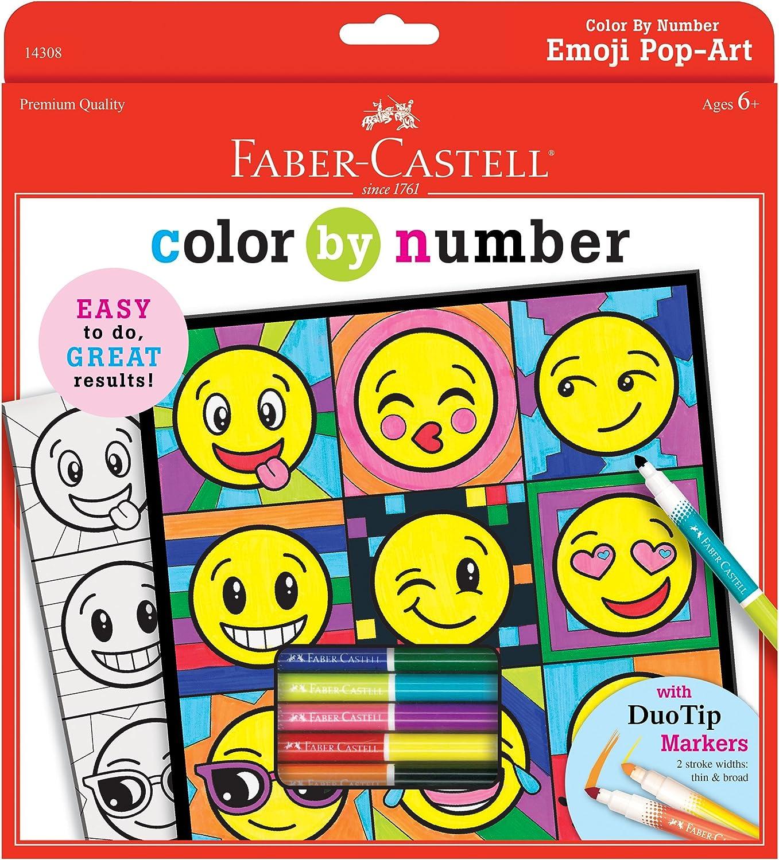 - Amazon.com: Faber-Castell Color By Number Emoji Pop-Art - Color
