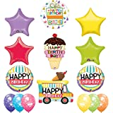 Ultimate Ice Cream Cone Sprinkles Birthday Party Supplies Decoration Balloon Kit with Ice Cream Treat latex