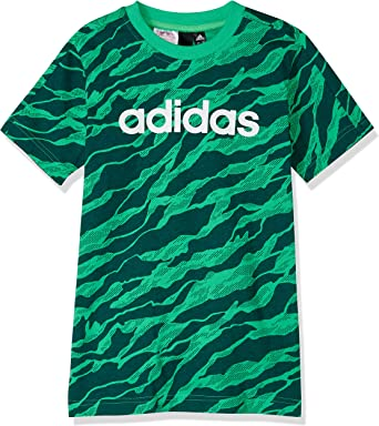 adidas Linear Printed Camiseta Cuello Redondo Manga Corta Algodón ...