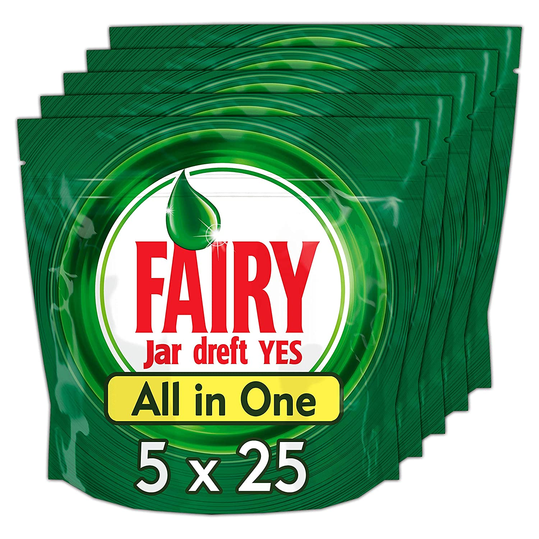 Fairy Original Todo en 1 Cápsulas Lavavajillas Limón - 5 x 25 ...