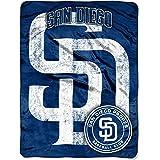 MLB San Diego Padres Micro Raschel Plush Throw Blanket, Trip Play Design