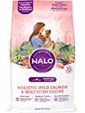 Halo Holistic Dry Cat Food, Wild Salmon and Whitefish, 6 LB Bag of Natural Cat Food
