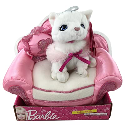 Barbie Fashion Pet Blissa Kitten with Bed and Pillow: Toys & Games