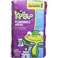 Kandoo flushable Wipes for Baby & Kids, Sensitive Skin, Hypoallergenic Wet Cleansing Cloths, 250 Ct 250 count