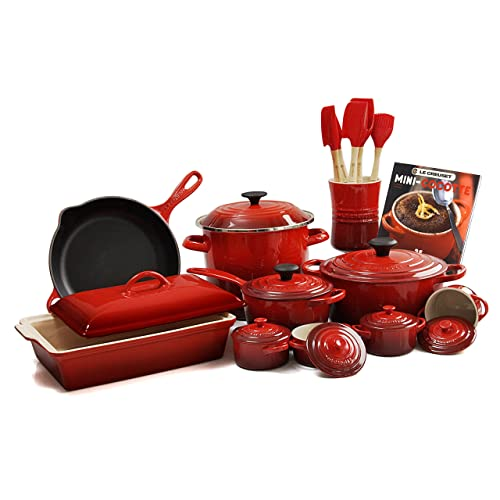 Le Creuset Cherry Red 20-piece