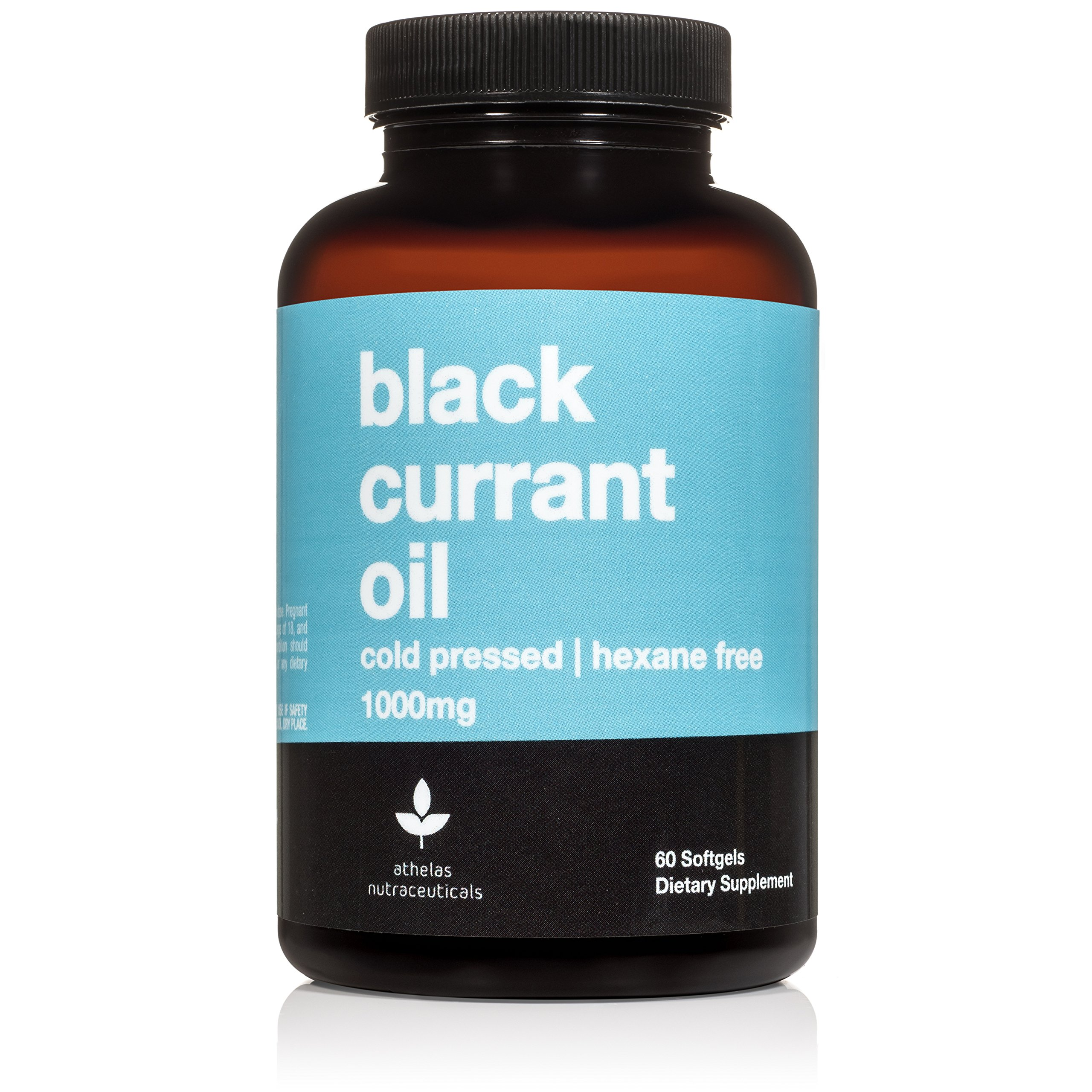 Black Currant Seed Oil 1000mg - Cold Pressed - Hexane Free - High in GLA - Supports Healthy Hair, Skin, and Nails - Assists Menstrual Cycle - Softgel Capsules Supplement