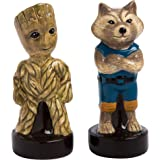 Vandor 55819 Marvel Guardians of The Galaxy Little Groot and Rocket Sculpted Ceramic Salt and Pepper Set, 2 x 4 x 2 Inches