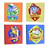 """Amazon Price History for:Nickelodeon Paw Patrol Square Canvas Wall Art 11"""" Toy (Pack of 4)"""