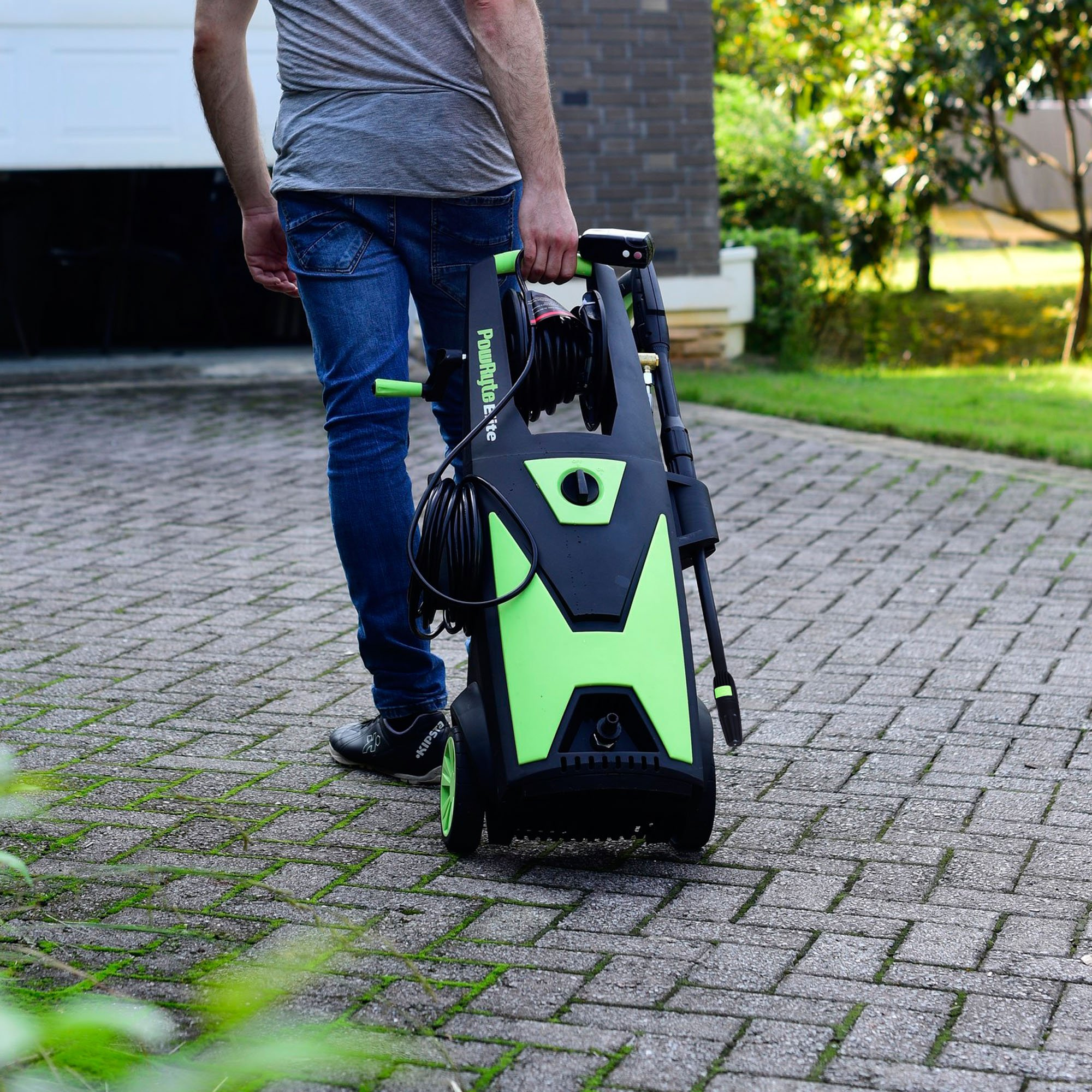 PowRyte Elite Electric Pressure Washer, 2200PSI 2.0GPM Power Washer with Hose Reel, Extra Turbo Nozzle, Induction Motor by PowRyte (Image #5)