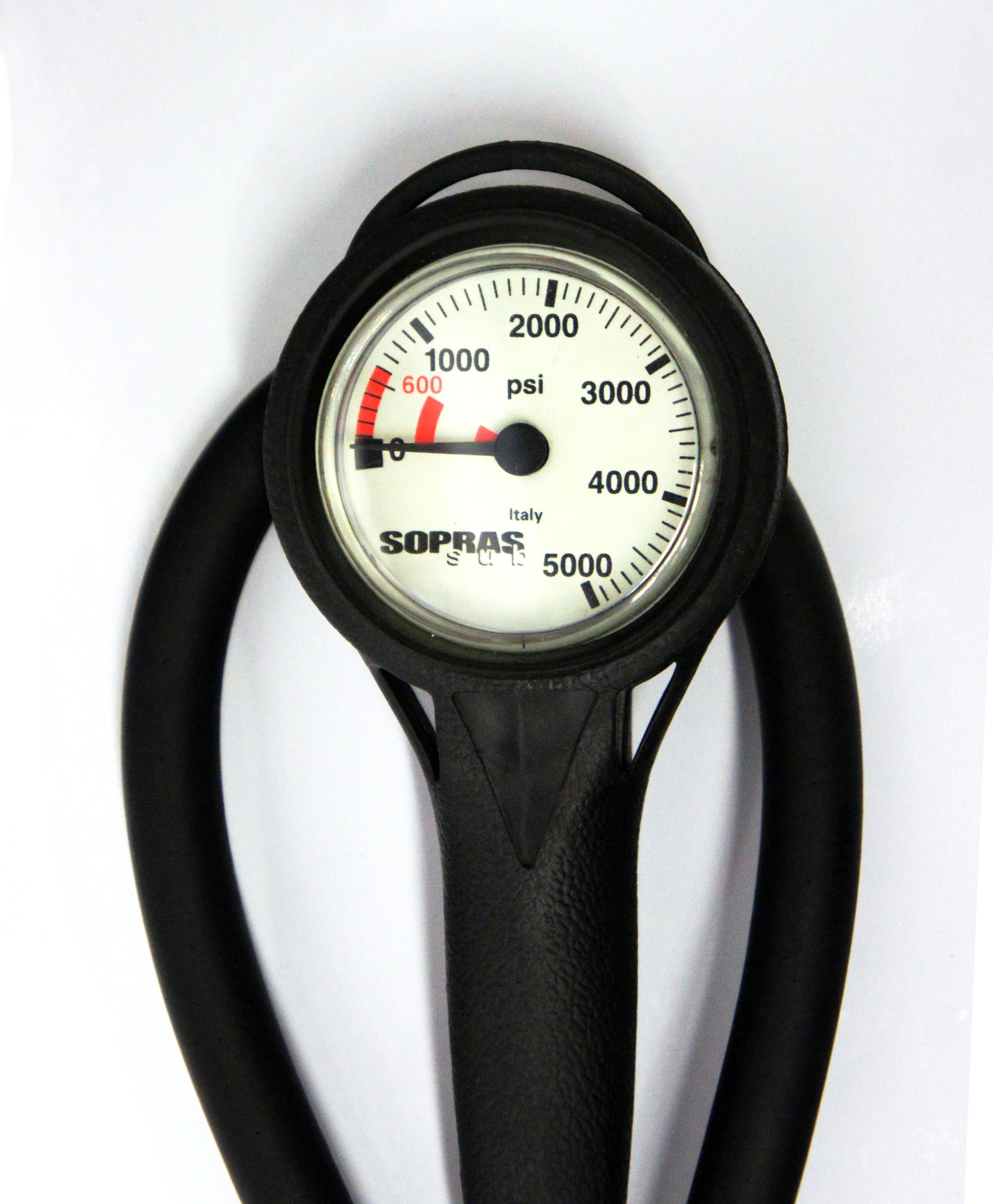 SOPRAS SUB SPG WITH BOOT IMPERIAL ANALOG PRESSURE GAUGE PSI WITH HOSE 1.5 INCH by Sopras Sub (Image #1)