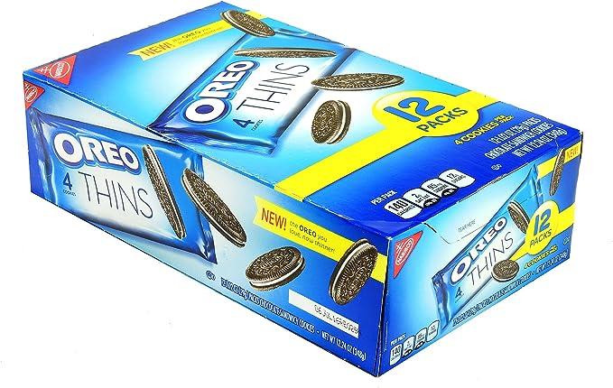NABISCO OREO THINS 1.02 4 COOKIES PER PACK / 12 PACKS: Amazon.es ...