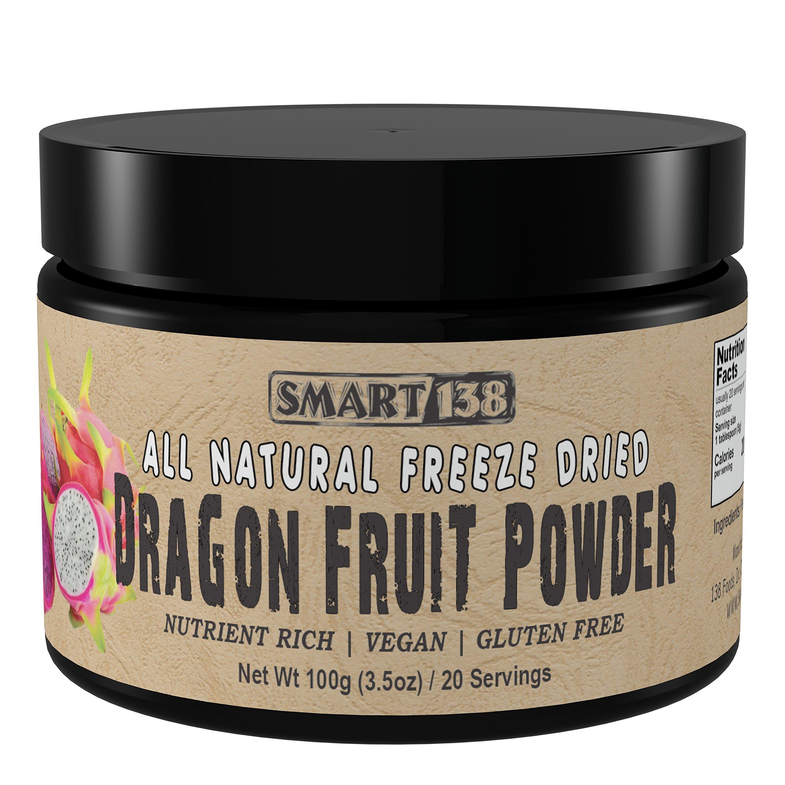 Dragon Fruit (Pitahaya) Powder, 100g / 3.5oz, Freeze Dried Purple, All Natural Dragonfruit, BPA-Free