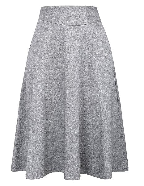 a4c5d70d7 Kate Kasin Mujer Falda Plisada Cintura Alta Vintage Retro Color Liso