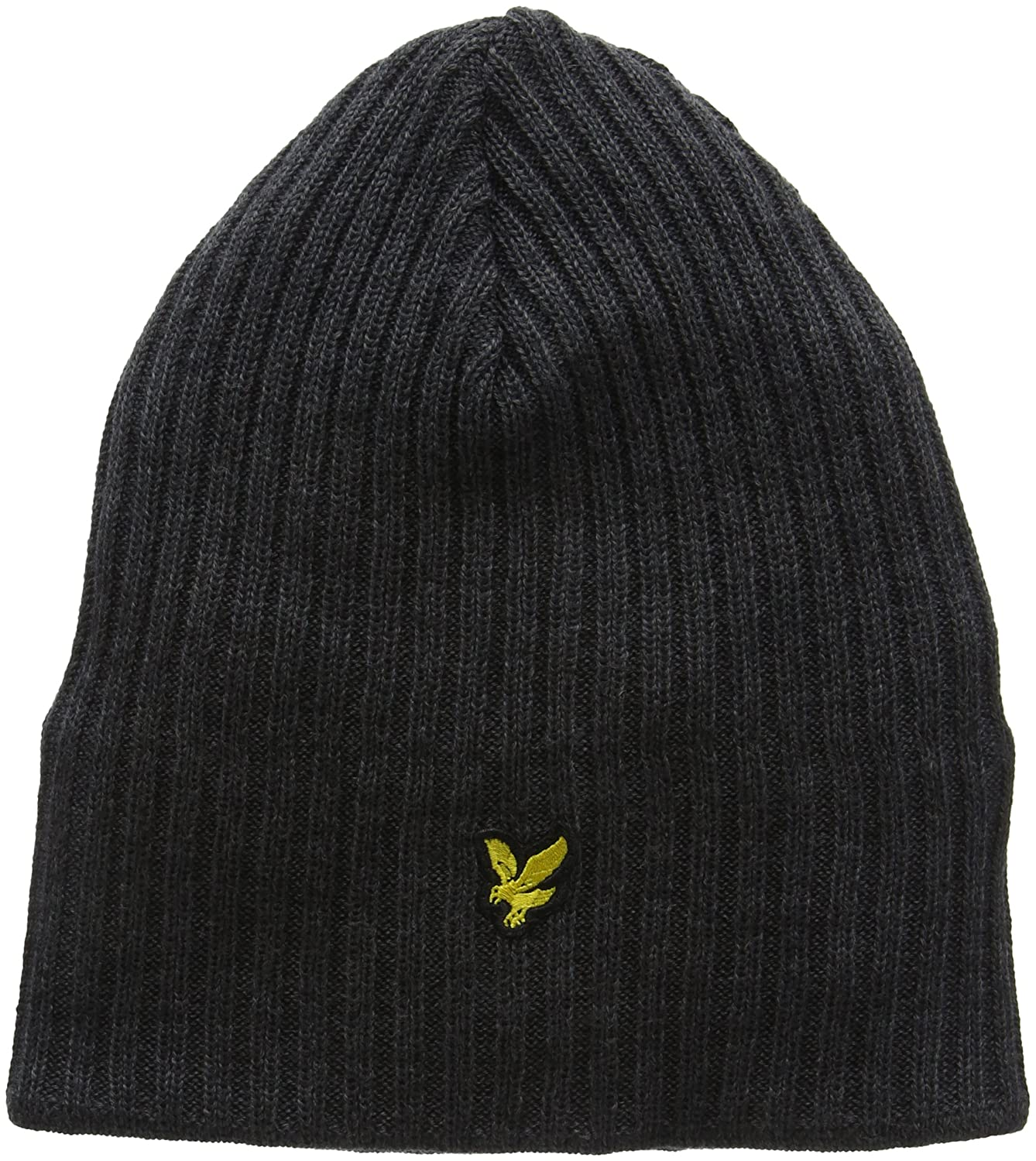 Lyle /& Scott Mens Knitted Ribbed Beanie