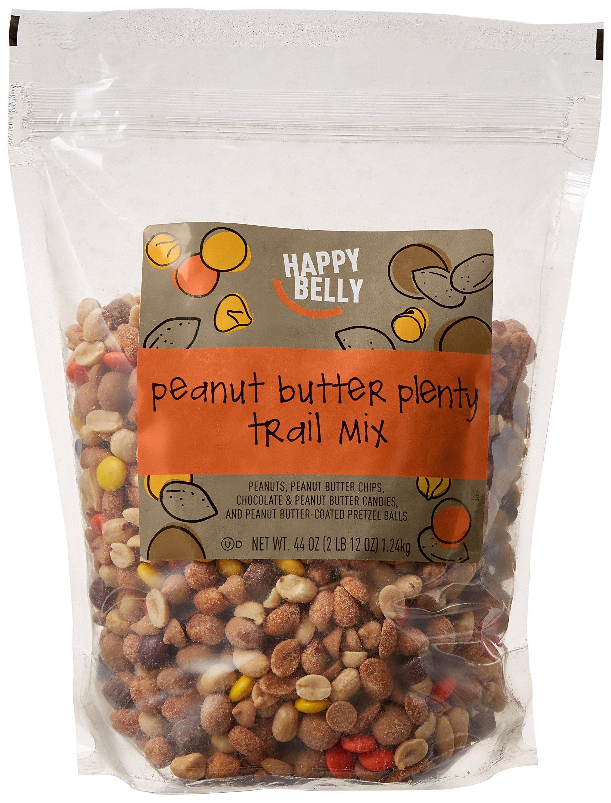 Amazon Brand - Happy Belly Amazon Brand Peanut Butter Plenty Trail Mix, 44 ounce