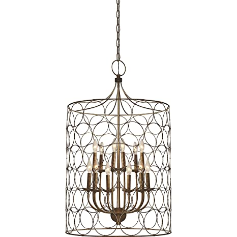 Flores circle design 12 light candle style chandelier uptown steel flores circle design 12 light candle style chandelier uptown steel gold cage lamp aloadofball Choice Image
