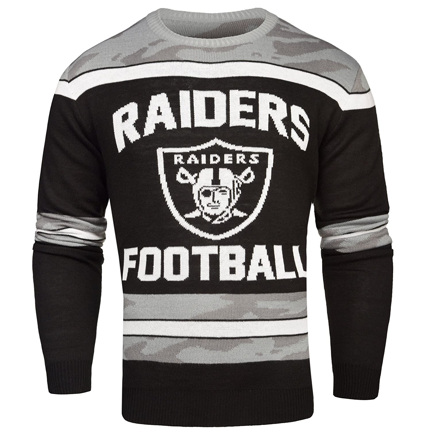 Amazon.com : Oakland Raiders Ugly Glow In The Dark Sweater - Mens ...