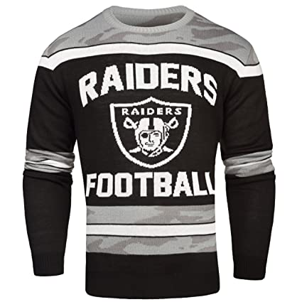 63ada9d9 Amazon.com : Oakland Raiders Ugly Glow In The Dark Sweater - Mens ...