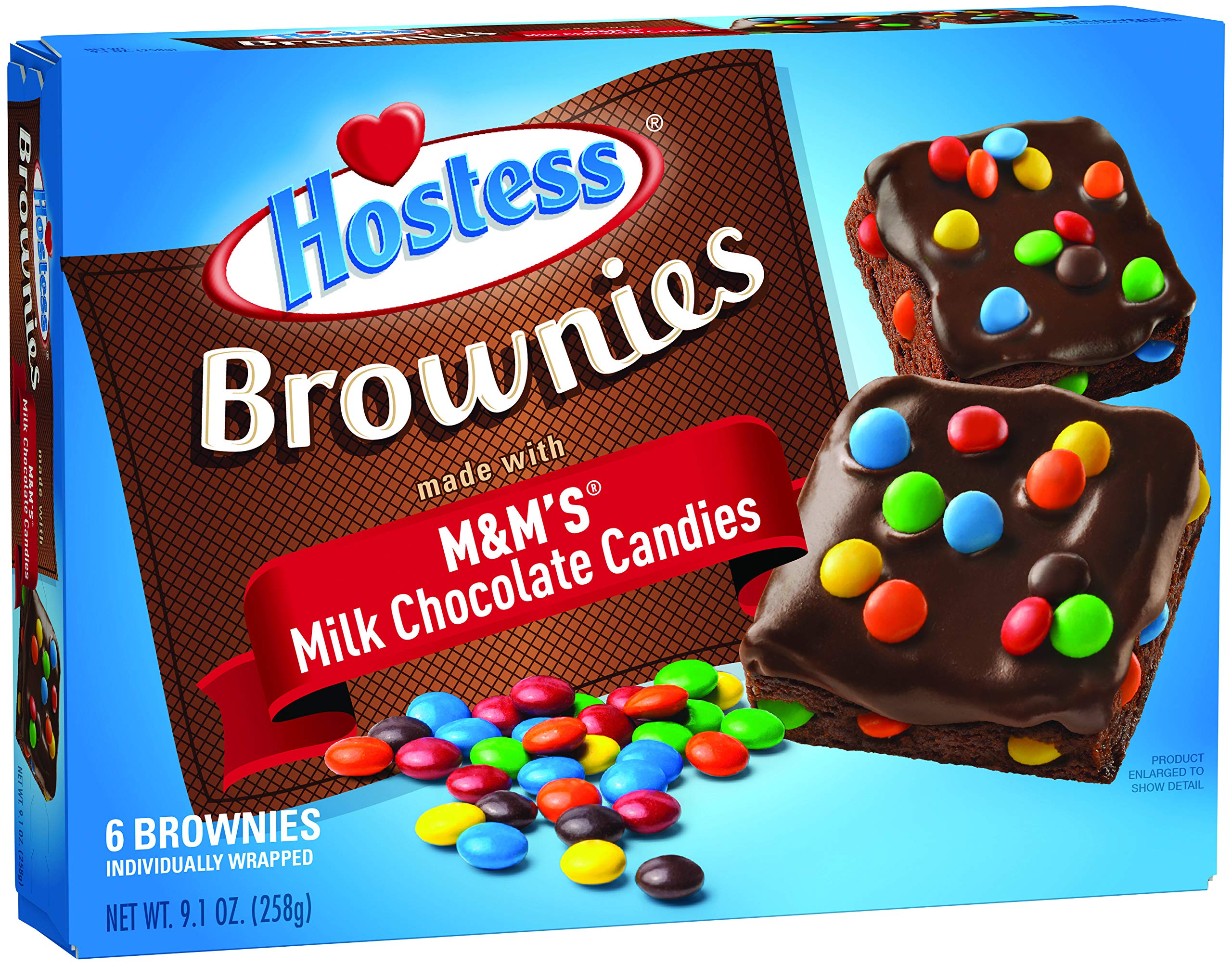 Hostess Brownies with M&M's, 6 Count (Pack of 6) by Hostess