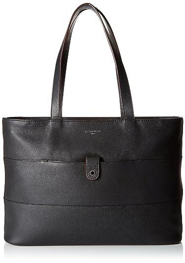 c9177e53a3cb Le Tanneur femme Violette Two1660 Cabas Noir (Noir)  Amazon.fr ...