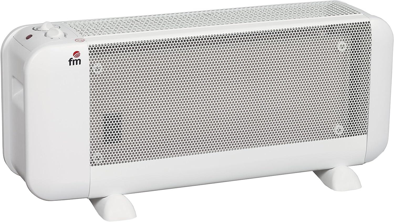 FM Calefacción BM-15 - Radiador, Mica, Piso, Giratorio, 1500 W, Blanco