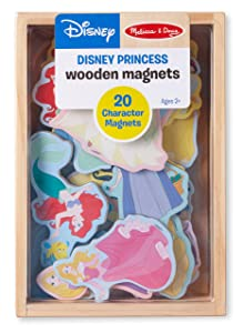 Melissa & Doug Disney Princess Wooden Magnets (Developmental Toy, Wooden Storage Case, 20 Character Magnets, Great Gift for Girls and Boys - Best for 2, 3, 4, 5 and 6 Year Olds)