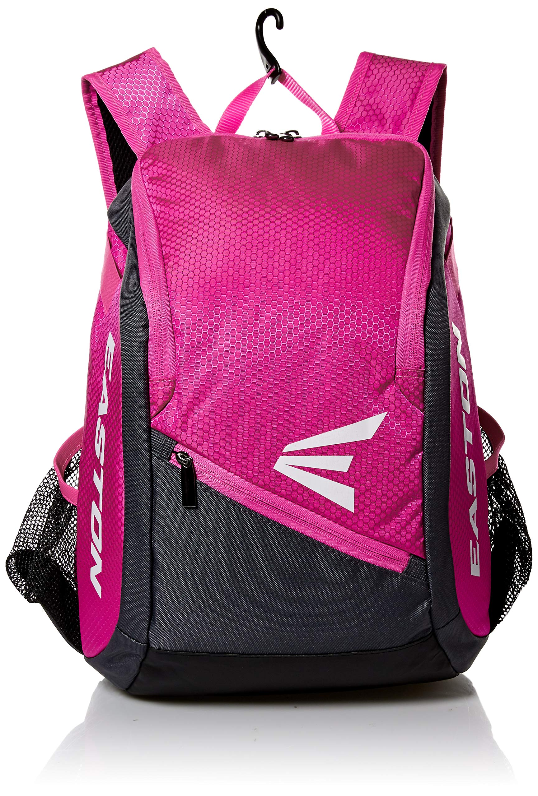 EASTON GAME READY Youth Bat & Equipment Backpack Bag | Baseball Softball | 2019 | Pink | 2 Bat Pockets | Vented Main Compartment | Vented Shoe Pocket | Valuables Pocket | Fence Hook by Easton