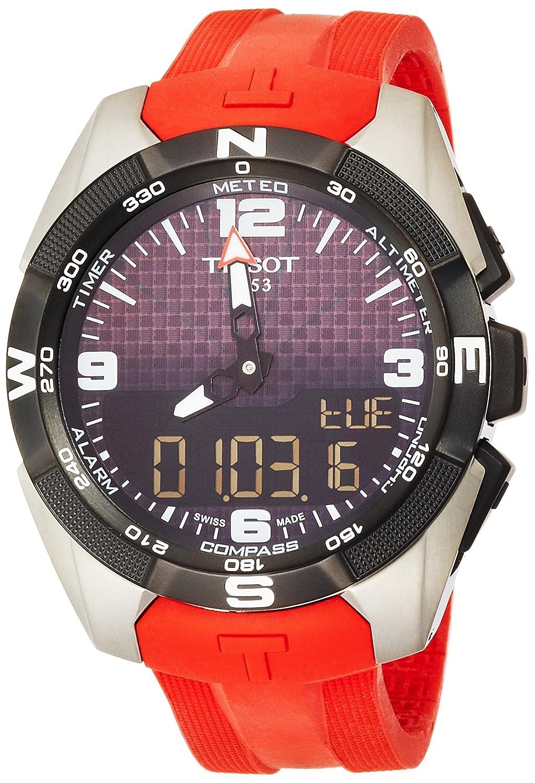 [ティソ] TISSOT 腕時計 Tータッチ エキスパート ソーラー タッチセンサー付き ブラック文字盤 シリコン T0914204705700 メンズ 【正規輸入品】 B018KDUJ7C