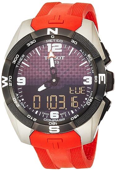 TISSOT RELOJ DE HOMBRE CUARZO SUIZO 45MM CORREA DE SILICONA T091.420.47.057.00: Amazon.es: Relojes