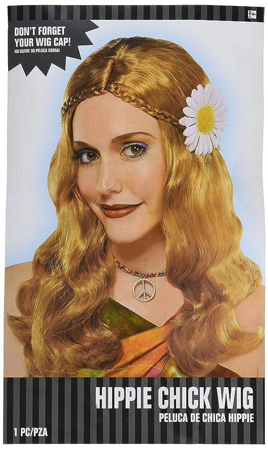 Adultos Amscan Internacionales del polluelo del Hippie peluca: Amazon.es: Juguetes y juegos