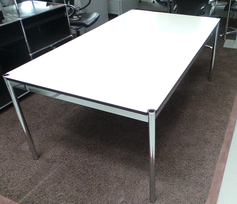 USM Haller, Tisch, Fritz Haller, Gestell Stahl verchromt, Tischplatte Eiche schwarz furniert, B/T/H 175 x 75 x 74 cm, DesignKlassiker von Klingenberg