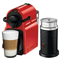Nespresso Inissia with Aeroccino 3 by Breville, Red