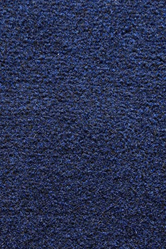 Ambiant Broadway Collection Solid Color Area Rugs with Rubber Marine Backing for Patio, Porch, Deck, Boat, Basement or Garage with Premium Bound Polyester Edges Navy 2 X3