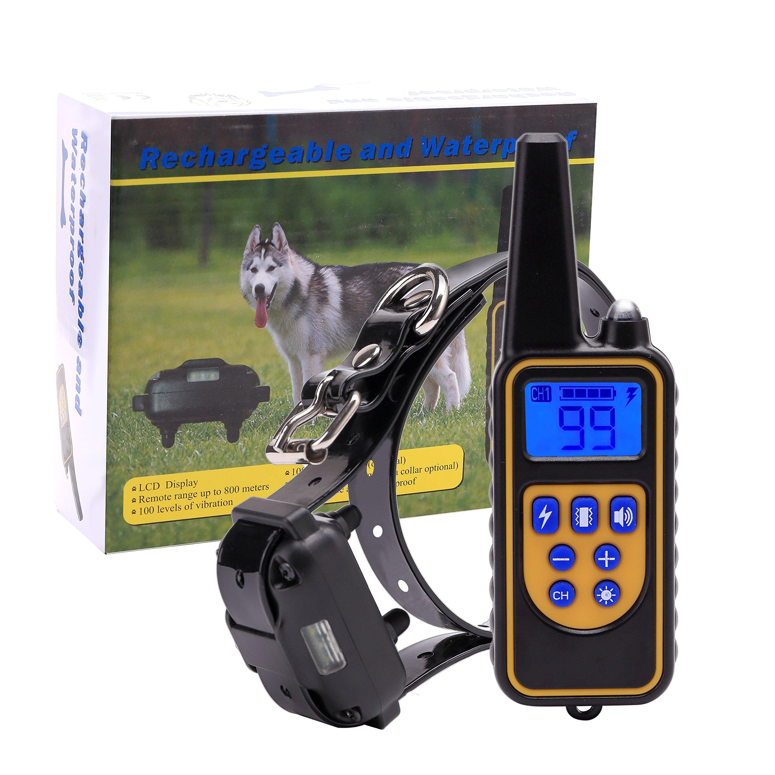 EtekCollar Dog Training Collar Rechargeable and Waterproof800 Yards Range Rem