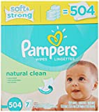 Amazon Price History for:Pampers Natural Clean Wipes 7x Box 504 Count