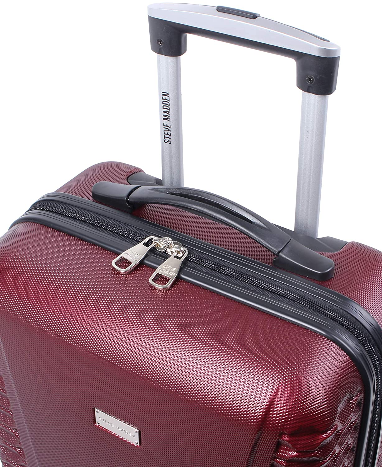 629e6ae48519 Steve Madden Antics Luggage 24'' Hardside Suitcase With Spinner Wheels  (Antics Red, 24in)