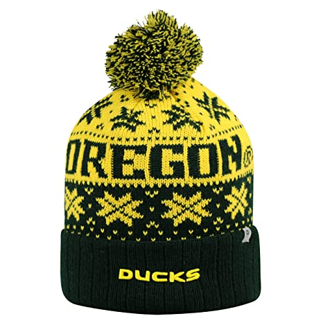 Image Unavailable. Image not available for. Color  Oregon Ducks Subarctic  Cuffed Pom Knit Beanie ... a6586c098ea