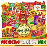 Mexican Candy Mix Assortment Snack (82 Count) Dulces Mexicanos Variety Of Best Sellers Sweet, SPICY and SOUR Bulk candies, Includes Luca Candy, Pelon, Pulparindo, Rellerindo, by JVR TRADE (SPICY)