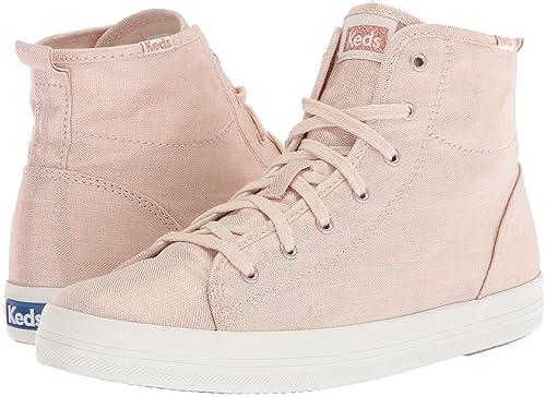 ef65e2c03559 Keds Women s Kickstart Hi Metallic Linen Sneaker