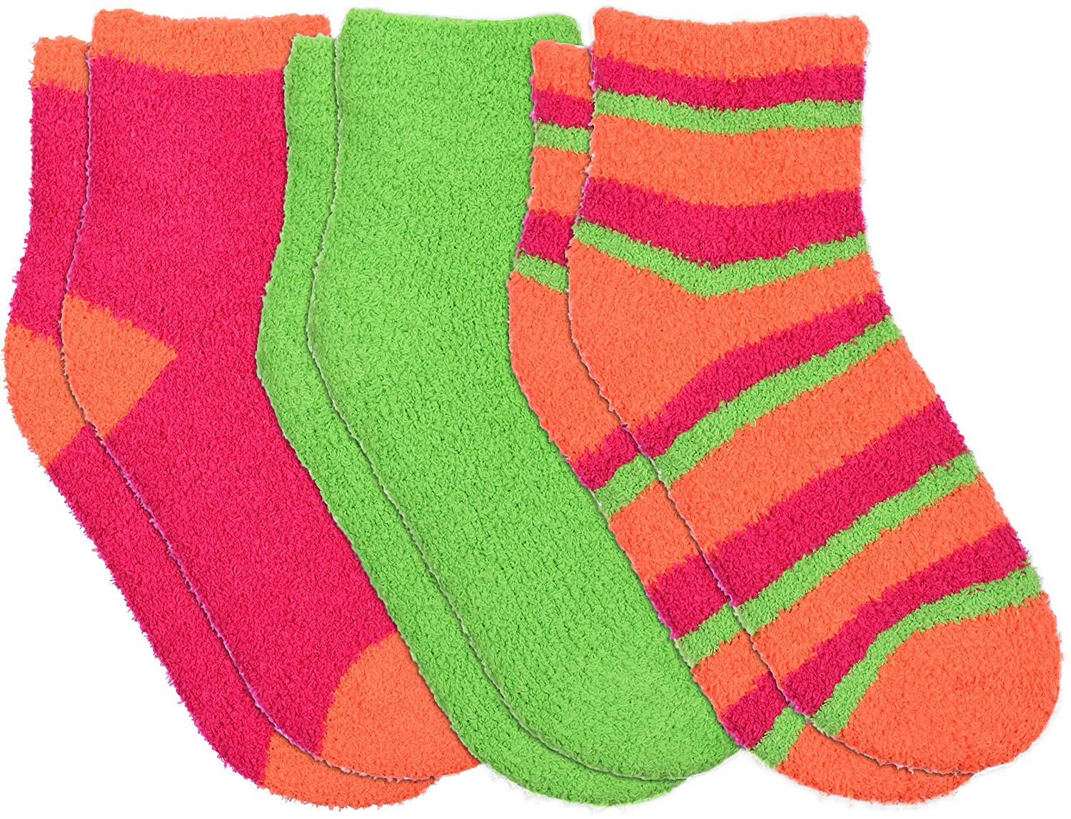 1b7a427ea Womens super soft chenille ankle high butter socks packs in colorful sets  set at amazon womens