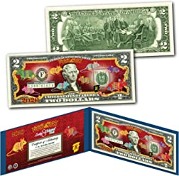$2 Bill *OFFICIALLY LICENSED* I LOVE LUCY CHRISTMAS XMAS Legal Tender U.S