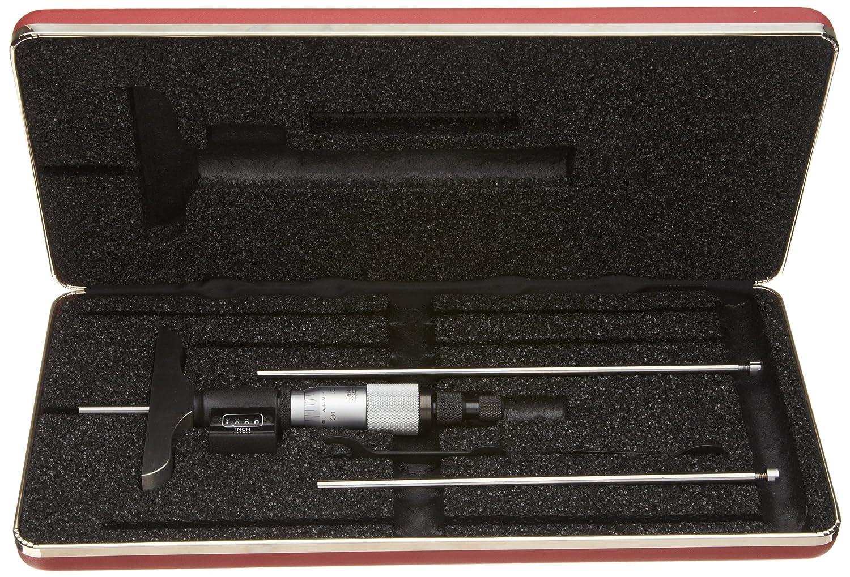 Starrett 446/az-3rl Digital Tiefenmesser, Ratsche Stop, Kontermutter, Typ 0 7,6/cm Genauigkeit +//-0.0001/ 0/cm Graduation