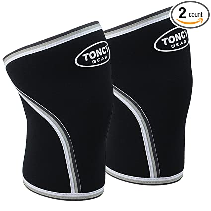54c697c005 1 Pair Knee Sleeves-Premium Quality 7mm Neoprene Compression Knee Support  Sleeve For Squatting Workout bodybuilding Weight Lifting Powerlifting &  Crossfit.