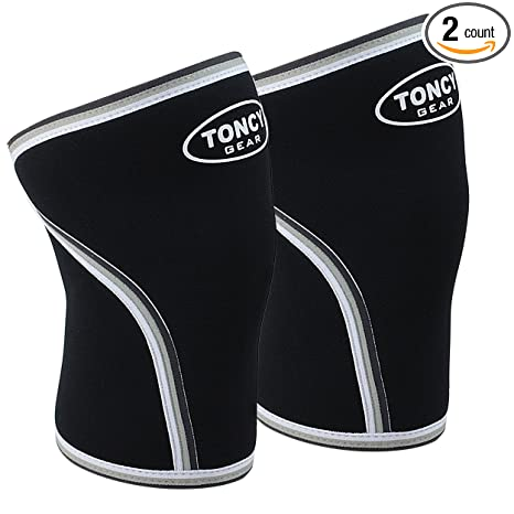 32d4d60b26 1 Pair Knee Sleeves-7mm Neoprene Compression Knee Support For Squatting  Workout bodybuilding Weight Lifting