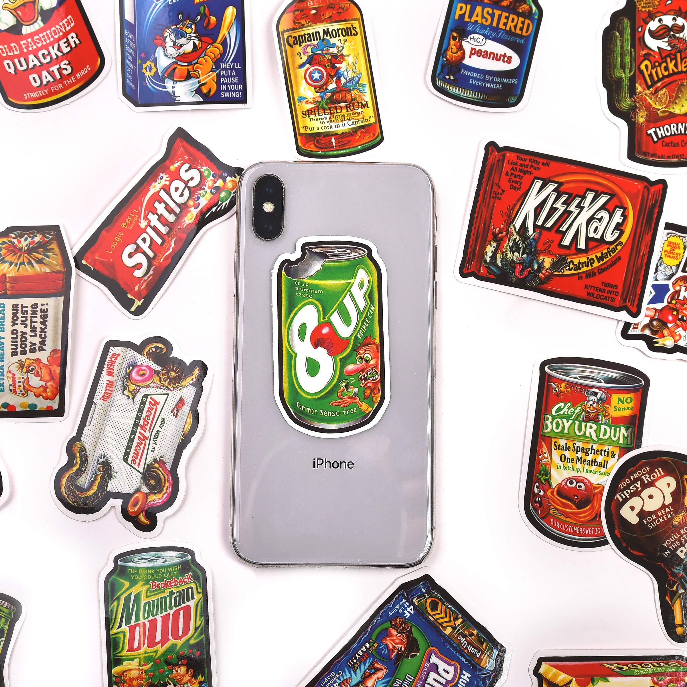 Mizzuco Vinyl Stickers Waterproof Food Stickers 50 Pieces for Teens Girls Laptop Bumper Helmet Ipad Car Luggage Water Bottle (SW105)