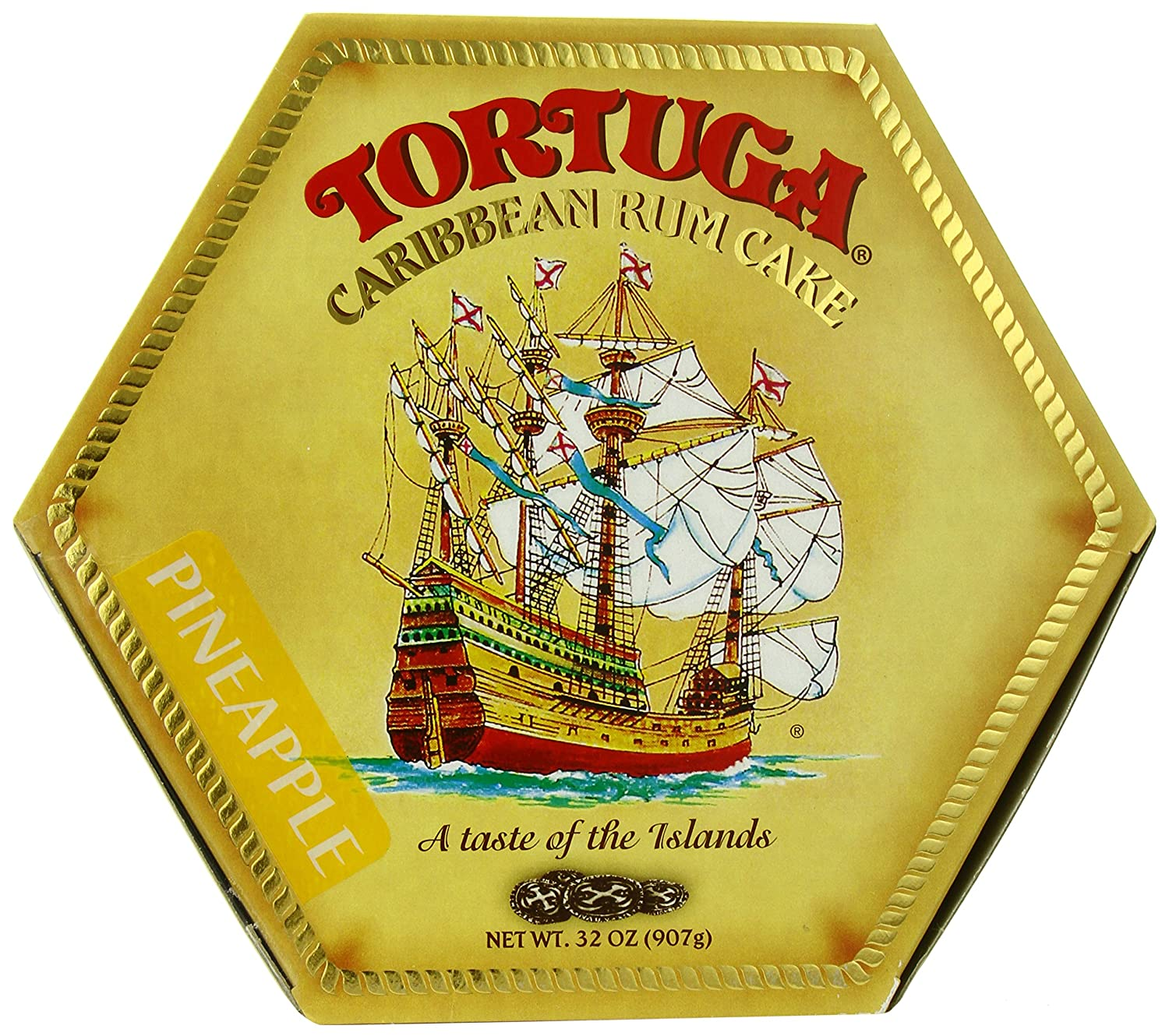 Tortuga Caribbean Rum Cake Pineapple 32 Ounce Box Com Grocery Gourmet Food