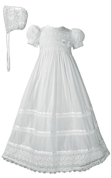 Amazon.com: Las niñas vestido de manga corta para bautizo de ...