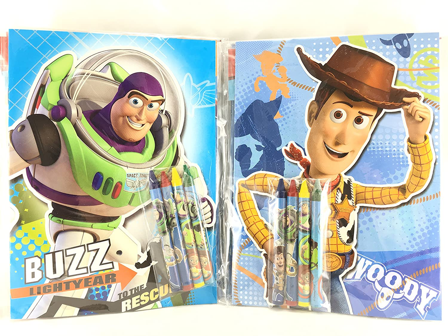 Assorted Style DISNEY SG/_B01MCT8Y5Q/_US Party Favors Toy Story Coloring Book /& Crayon Set 12 Pack