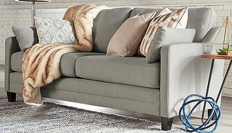 Amazon Com Serta Carmina Sofa Chenille Fabric Rhine Gray Kitchen